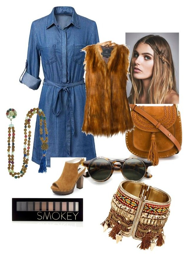 """""""H-shaped style for the day"""" by joanna-brzegowy on Polyvore featuring moda, Alice + Olivia, Chloé, Free People, Forever 21 i Unreal Fur"""
