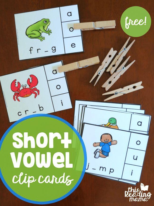 Short Vowel Clip Cards | Kind