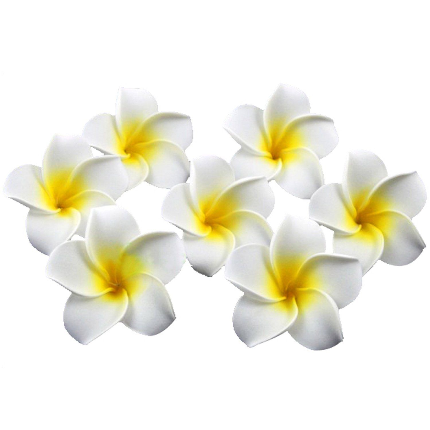 Eforcase 4cm eva white and yellow plumeria rubra hawaiian fake eforcase 4cm eva white and yellow plumeria rubra hawaiian fake artificial flower petals for weddingpartyhome decor decoration 100 pcsbag want to izmirmasajfo