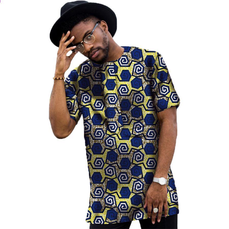 c7b8a9d2 Konventionelle Dashiki Mænds Kjole Mode Udskriv Korte Muleoverdele Man  T-shirt Afrika Style Design Festive