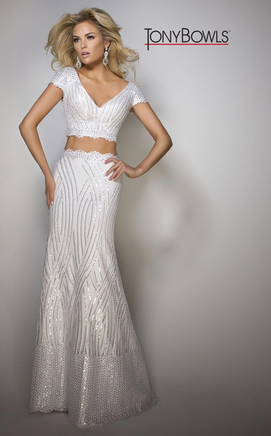 Two piece dress off the shoulder with sequins and mixed textures click here for tony also rh pinterest
