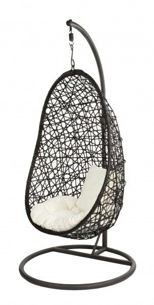 Egg Stoel Hangend.Hangstoel Brown Egg Giardino Home Inspiration Hanging Egg Chair