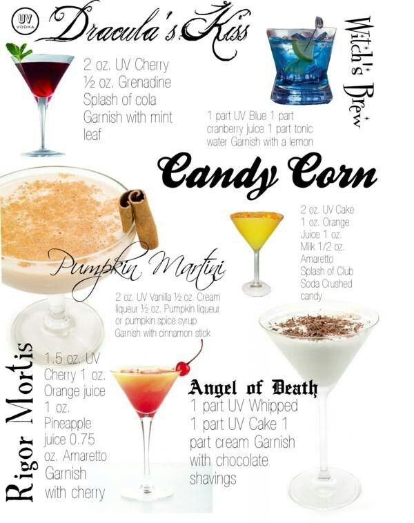 halloween ideas 6 spooky cocktails find out more in this infographic