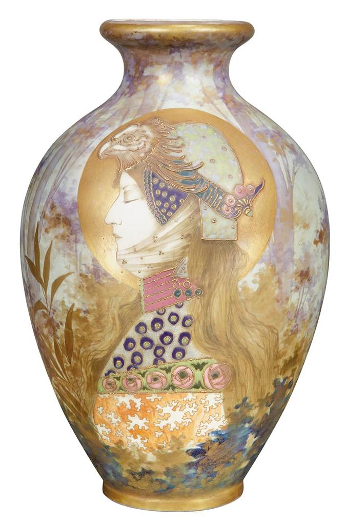 Riessner, Stellmacher & Kessel Amphora Pottery Co. Allegory of ...