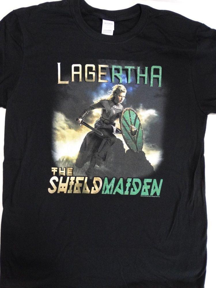 Vikings Lagertha The Shield Maiden Adult T Shirt History Drama
