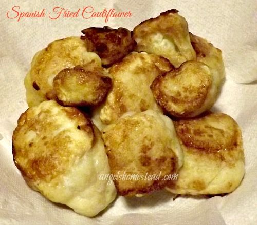 Fried Cauliflower from Angel's Homestead