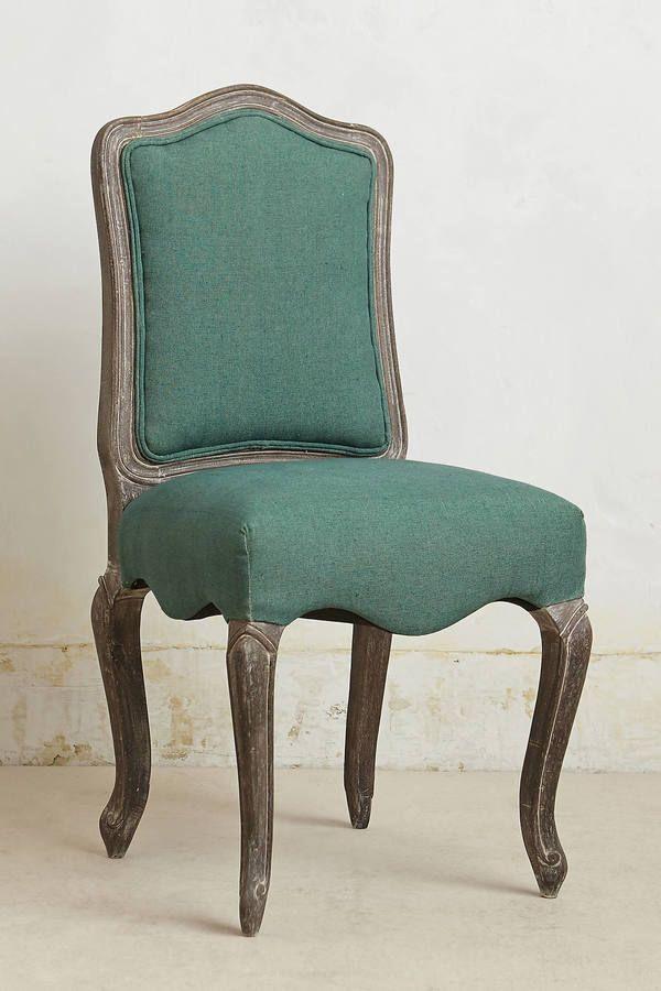 Anthropologie Linen Beatrix Dining Chair