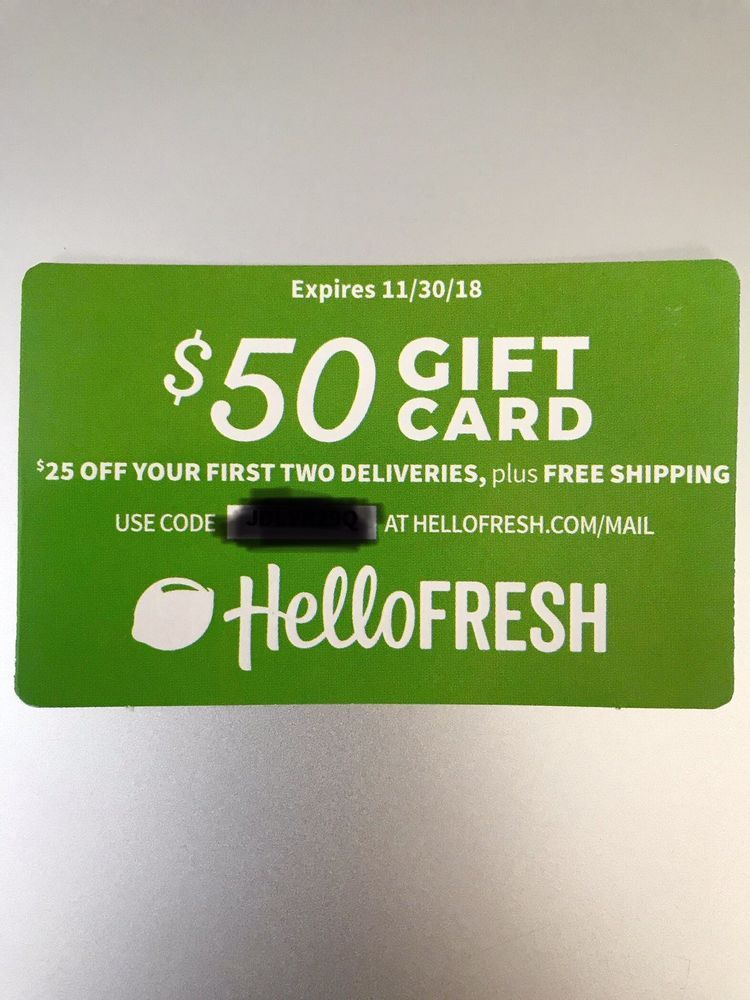8 Easy Facts About Hello Fresh Gift Card Described