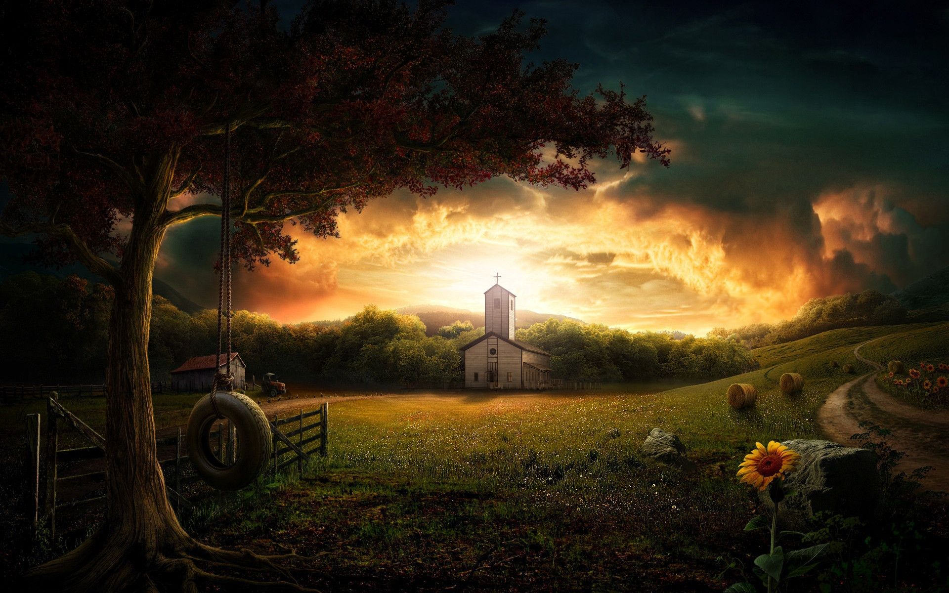 Ray Of Hope 1920 1200 R Wallpapers Photoshop Nature Landscape Wallpaper Landscape Pictures