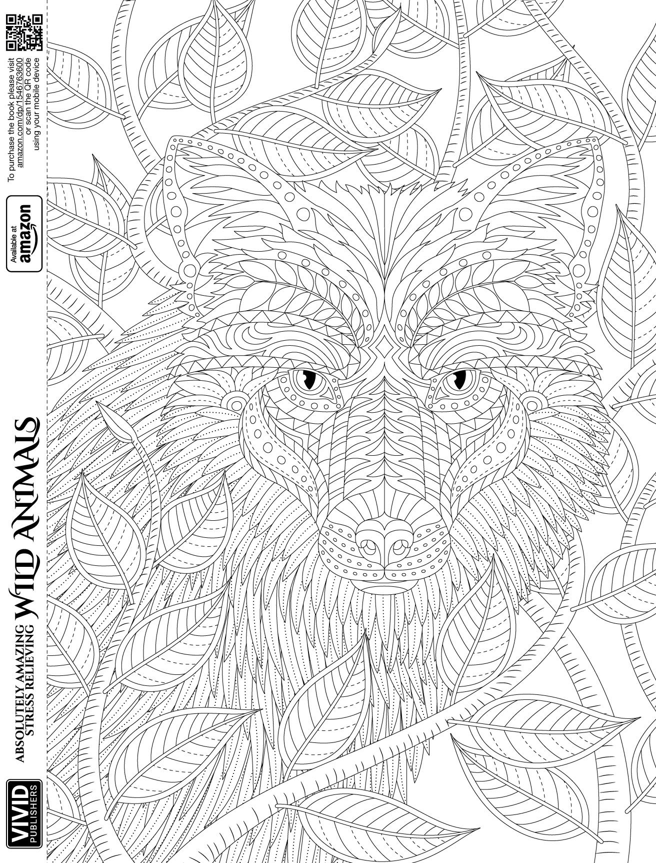 FREE Adult Coloring page of the \'Red Fox & vines\' from the adult ...