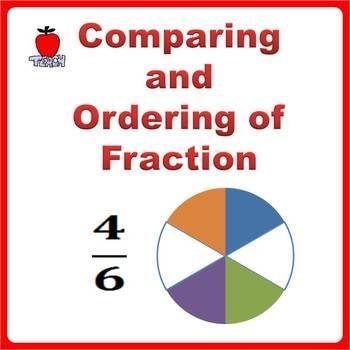 fractions worksheets 3rd grade 4th grade comparing and ordering fractions understand or. Black Bedroom Furniture Sets. Home Design Ideas