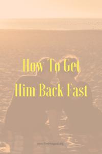 Get him back fast