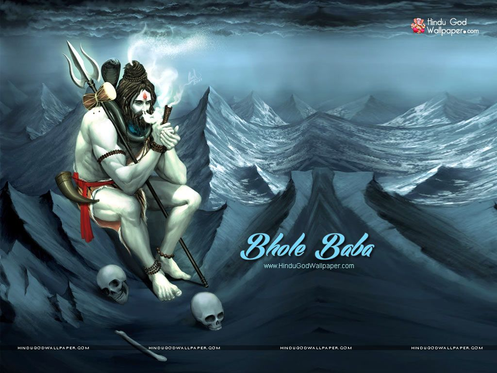 Bhole Baba Wallpaper With Chilam Shiva In 2019 Lord Shiva Shiva