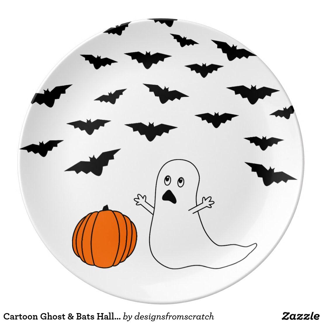 Het Spook Knuppels Halloween Van De Cartoon Porseleinen Bord Halloween Leuke Halloween Keramiek Ideeen