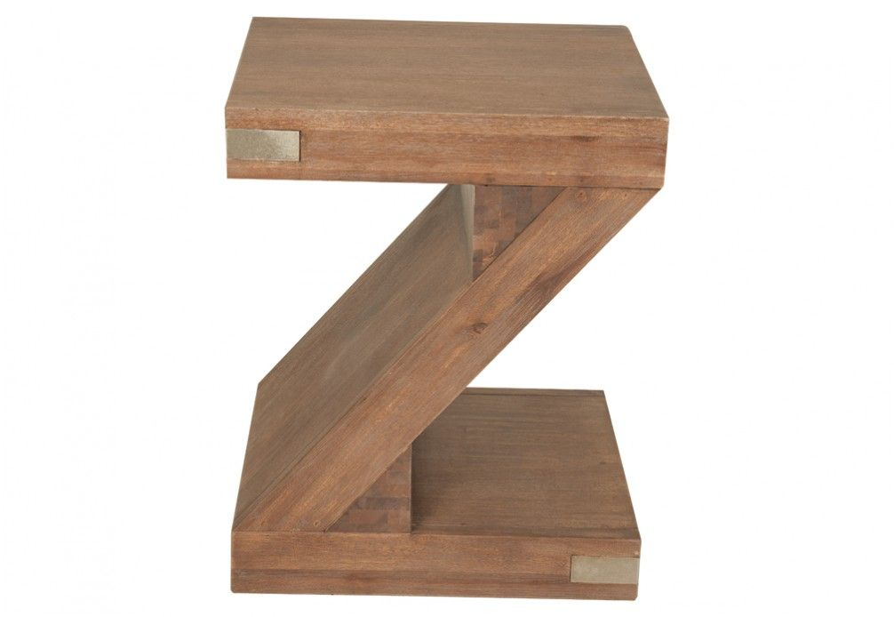 Silverwood Z Pedestal Side Table | Super A Mart