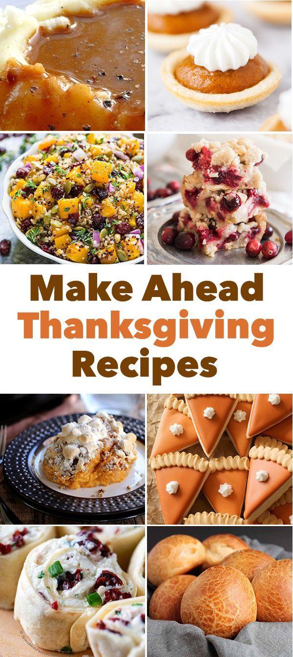 Thanksgiving Recipes You Can Make Ahead #thanksgivingrecipessidedishes