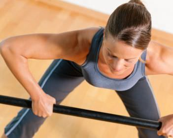 7 weighted bar exercises for overall toning  bar workout