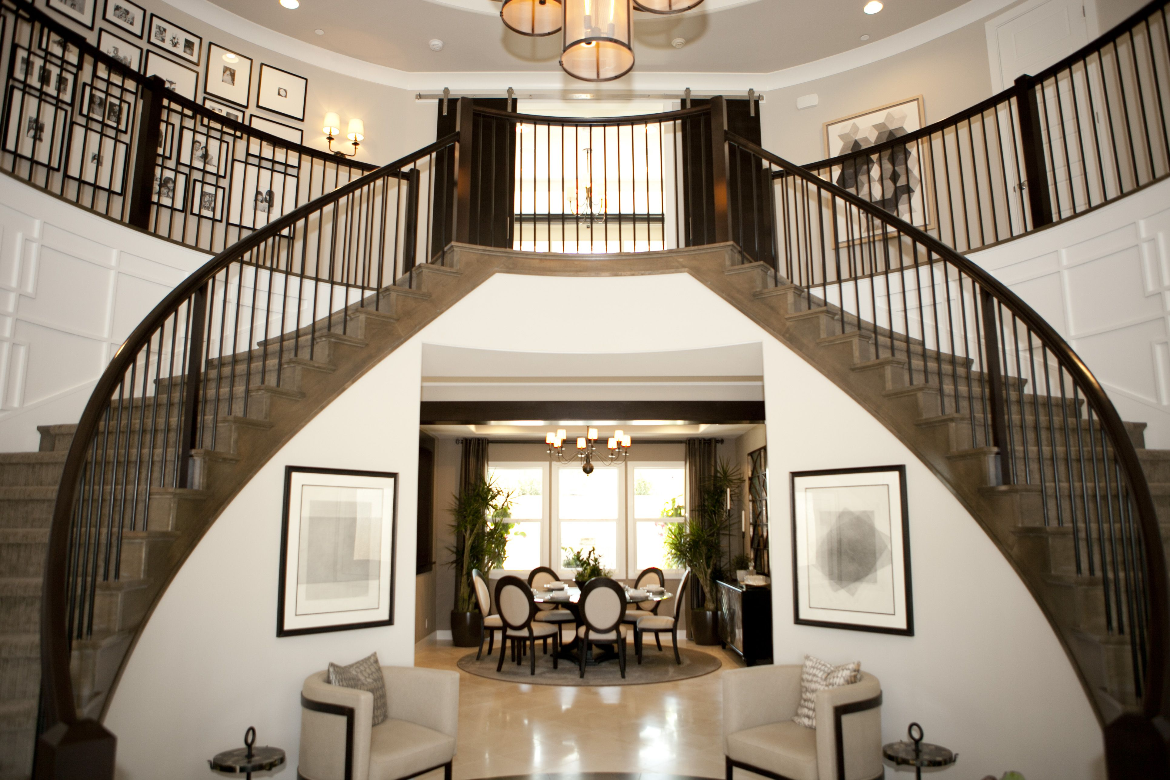 Best Foyer Grand Double Staircase Residential Design 400 x 300