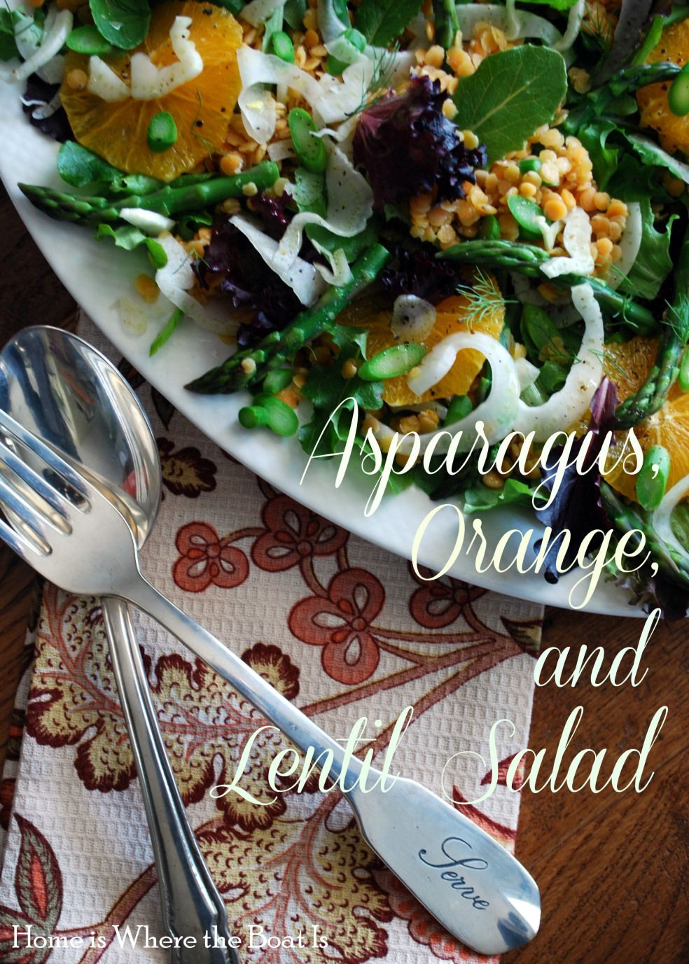 Asparagus Orange & Lentil Salad