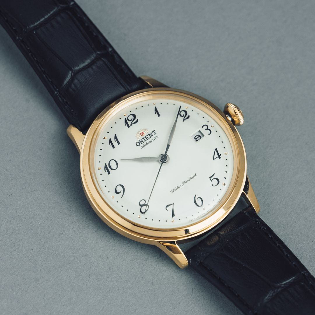 Shimmering Arabic numerals set the iteration of the Bambino Version