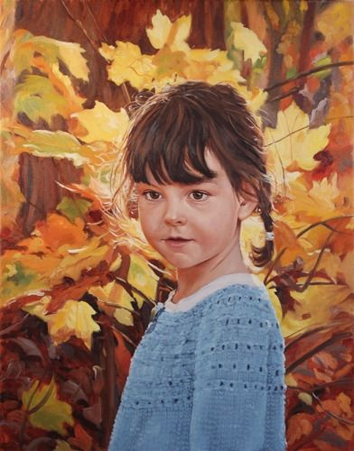 Autumn Portrait by Sarah Pogue oil on canvas