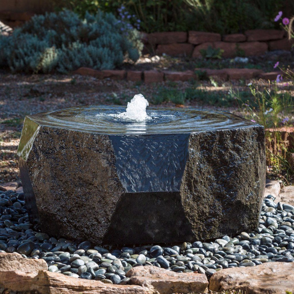 Outdoor Fountain Marubachi Fountain Stone Forest Stone Forest Creates Modern Contemporary Fountain Stone Fountains Fountains Outdoor Stone Water Features