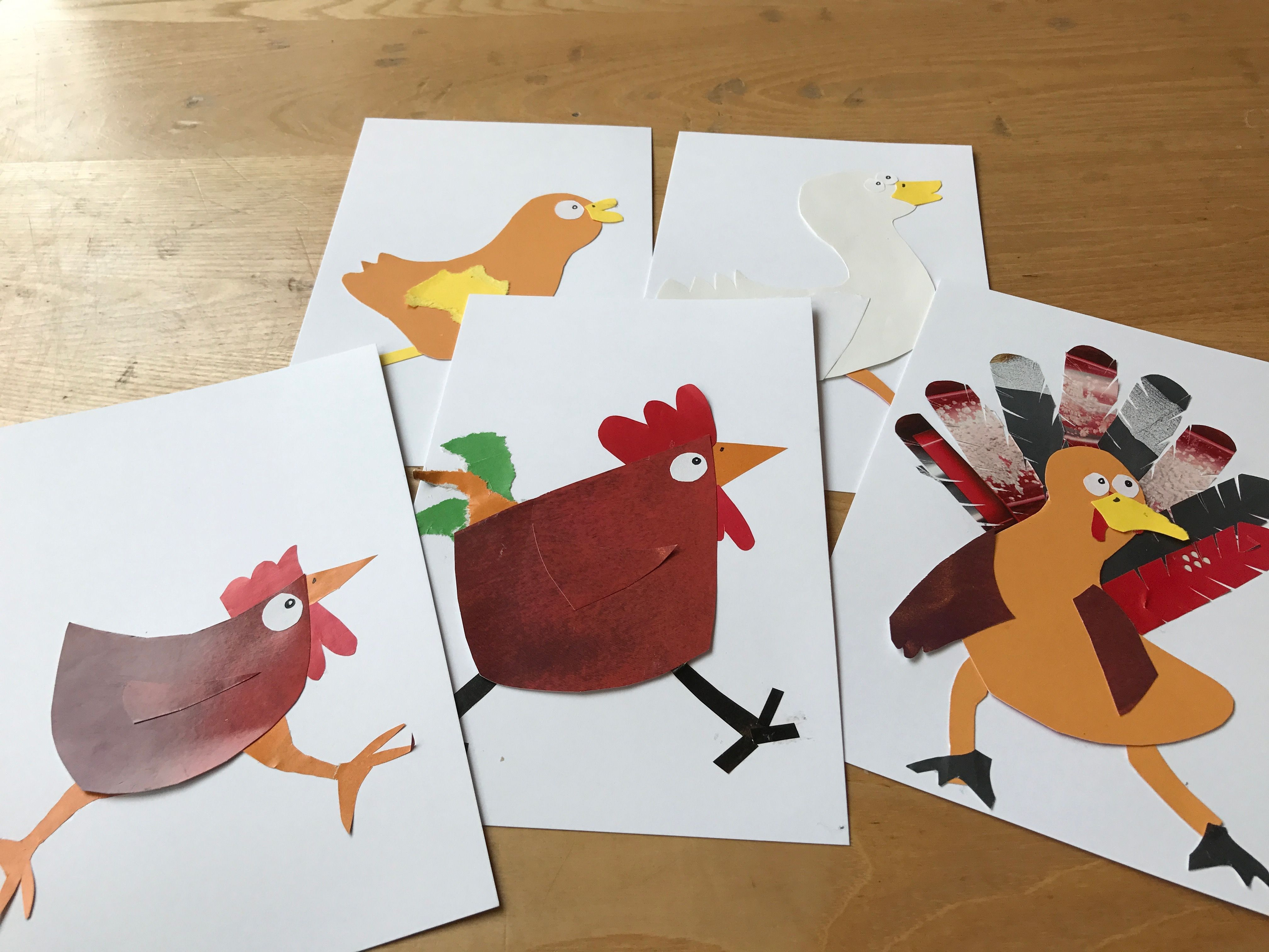 Collage Henny Penny Character Cards