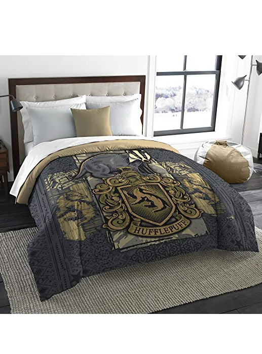 Harry Potter Hufflepuff House Crest Queen Or King Comforter
