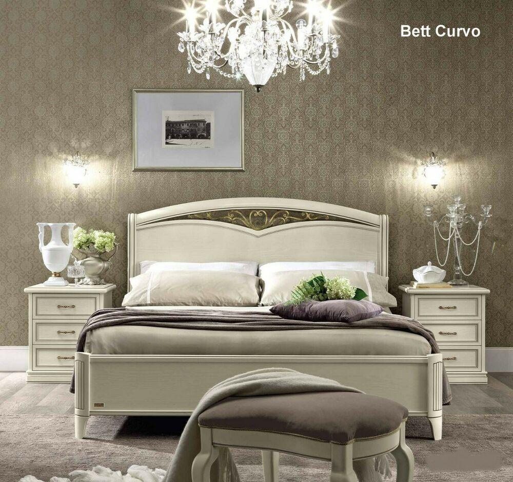Neues Luxus Schlafzimmer Nostalgia Farbe WeißAntik aus