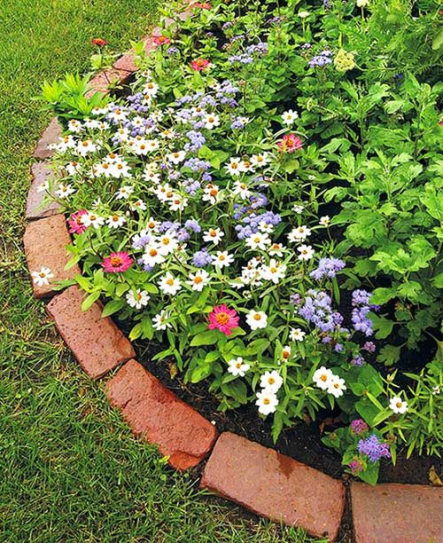 14 Brick Flower Bed Design Ideas You Can Replicate Instantly Brick Garden Edging Brick Garden Brick Landscape Edging