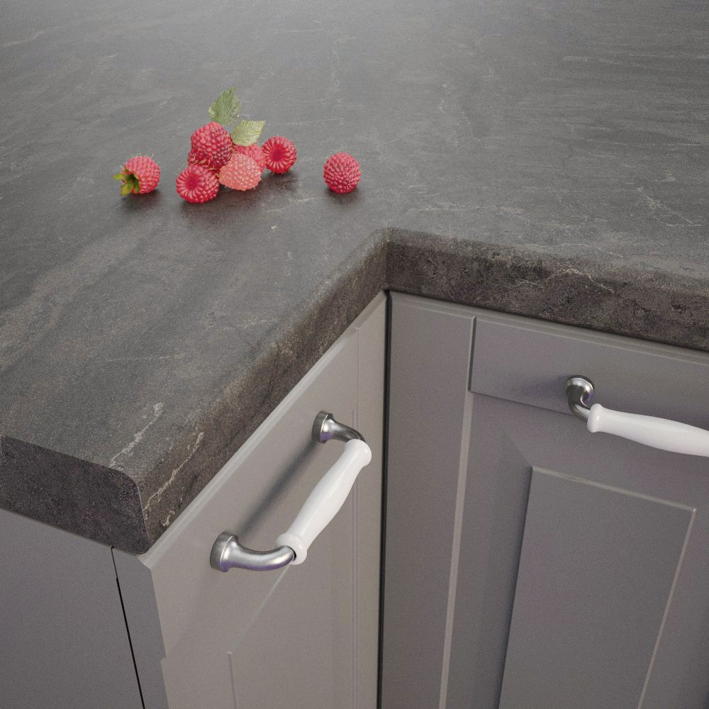Bronze Black Bz 173 Si Bullnosed Worktop 4100mm X 600mm X 39mm Getalit Worktops Instantly Tran Laminate Worktop Laminate Kitchen Laminate Kitchen Worktops