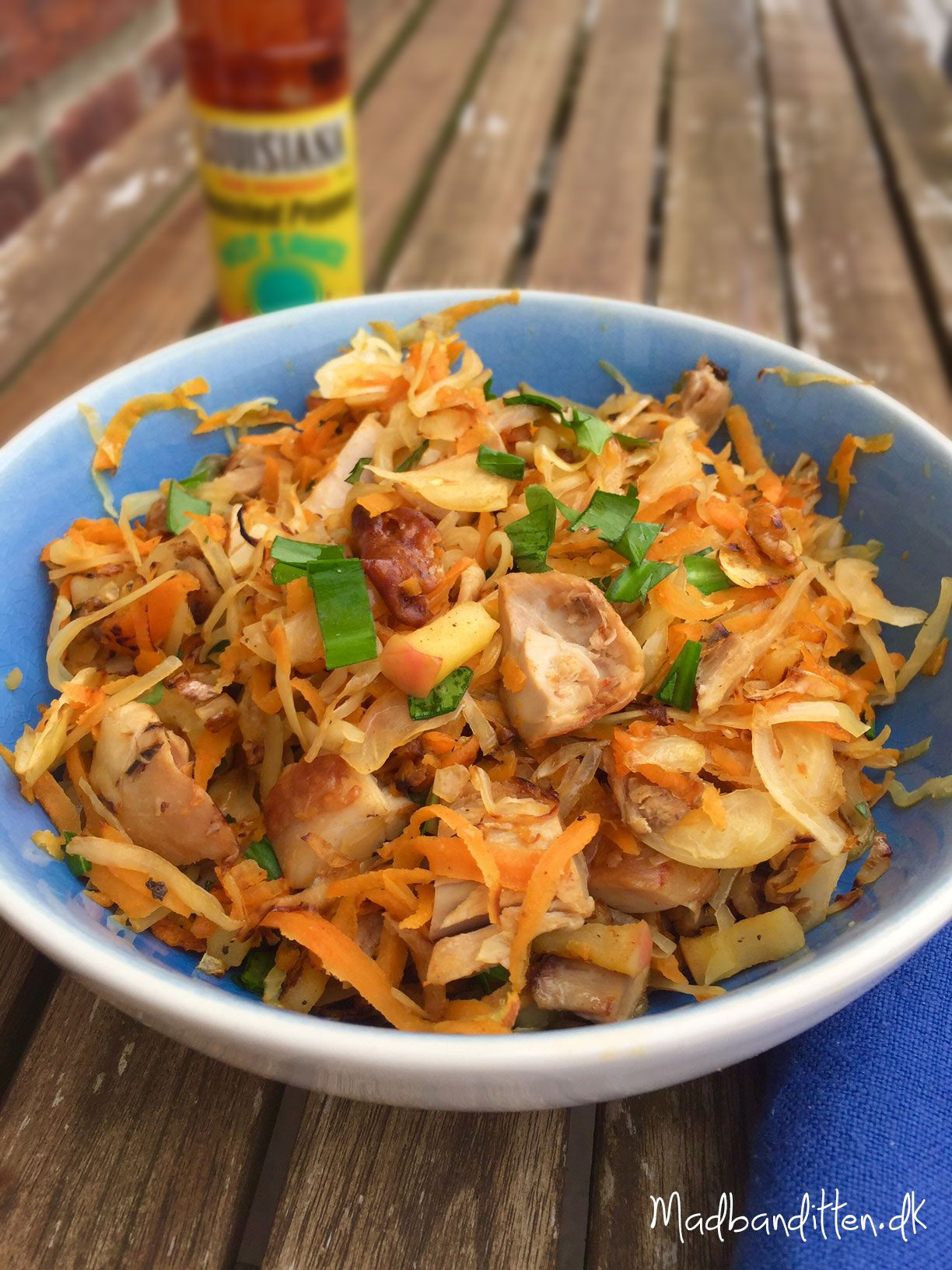 Stegt Råkost Med Kylling Og Ramsløg Opskrift Aftensmad Food