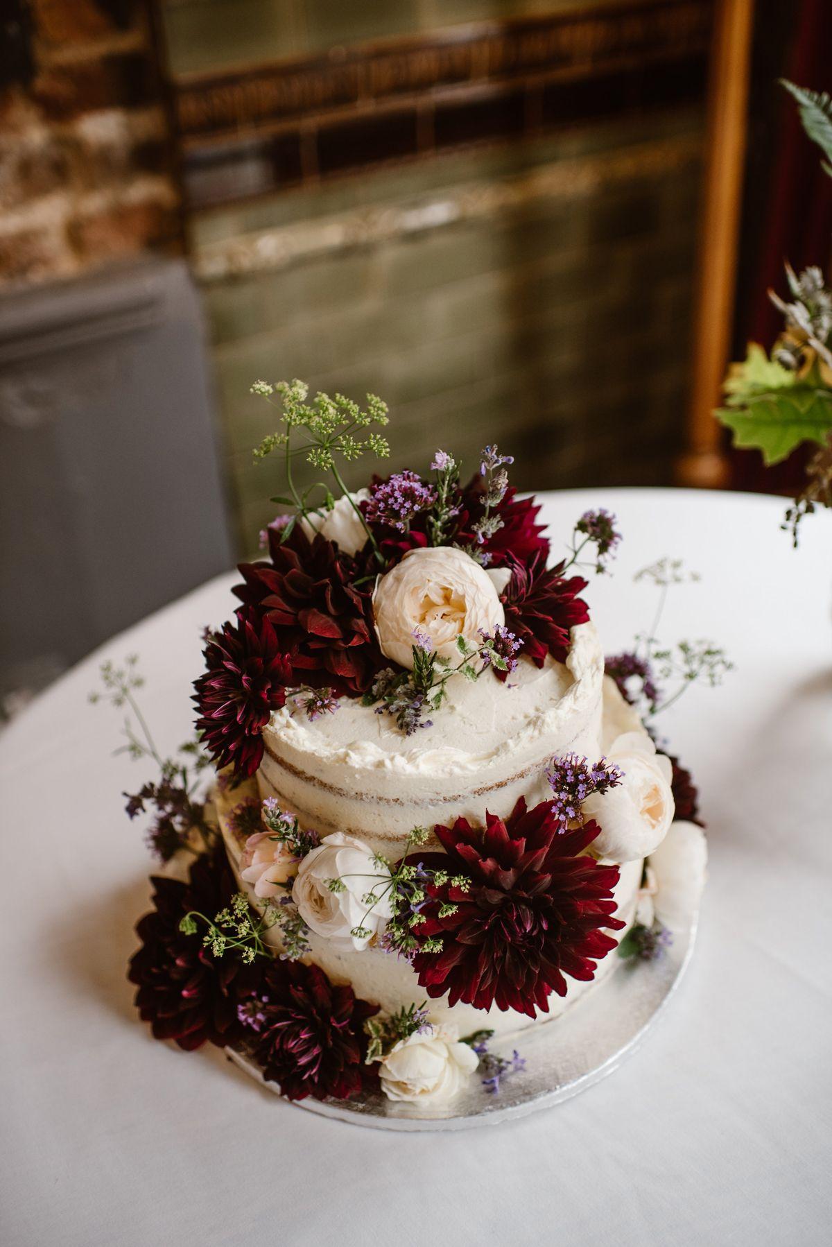 A vintage dress for a rock n roll london pub wedding wedding cakes