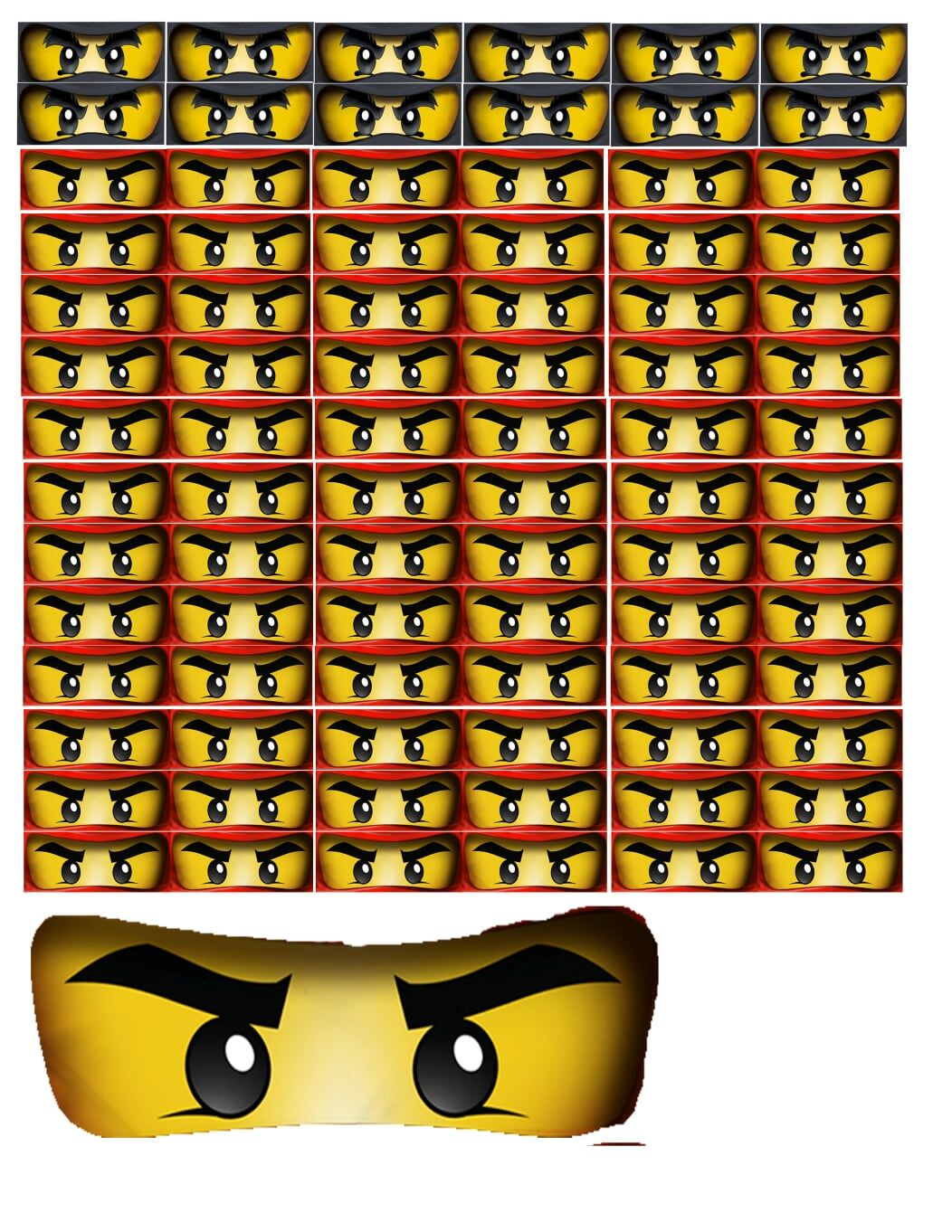It is a graphic of Printable Ninjago Eyes within transparent
