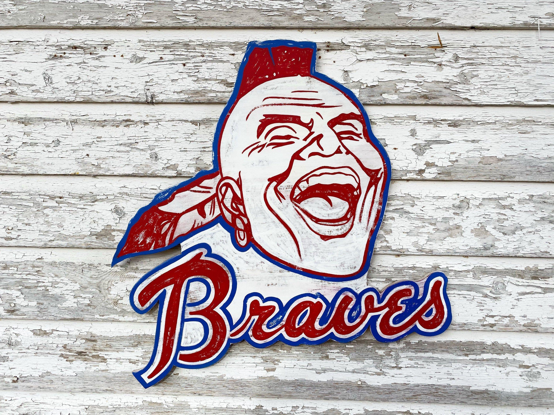 Vintage Atlanta Braves Sign Etsy In 2020 Braves Hand Painted Signs Vintage Atlanta Braves