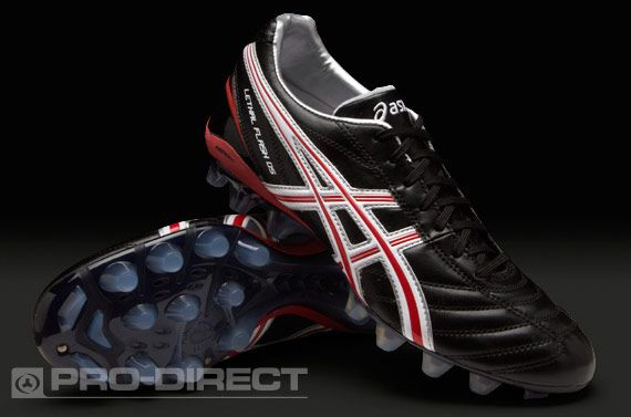 Asics Lethal Flash DS IT FG Boots - Black Red White  7052579cf971d