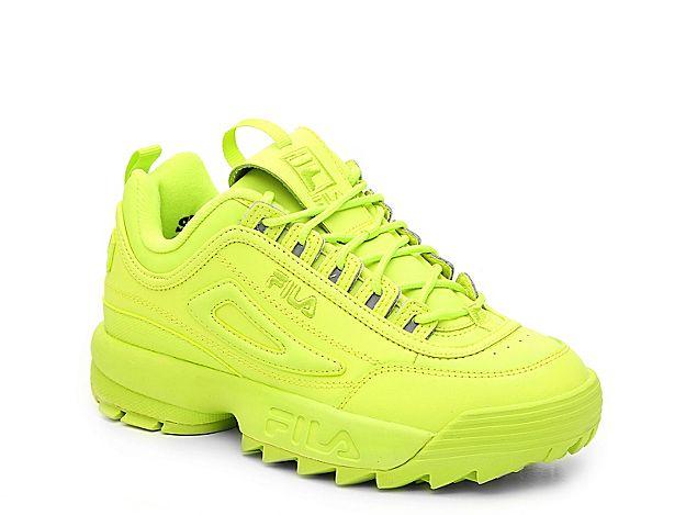 67d56c4b Women Disruptor II Premium Sneaker - Women's -Neon Green ...