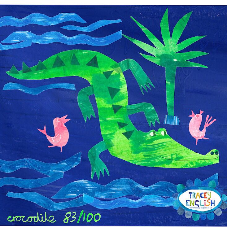 Crocodile by Tracey English  www.tracey-english.co.uk