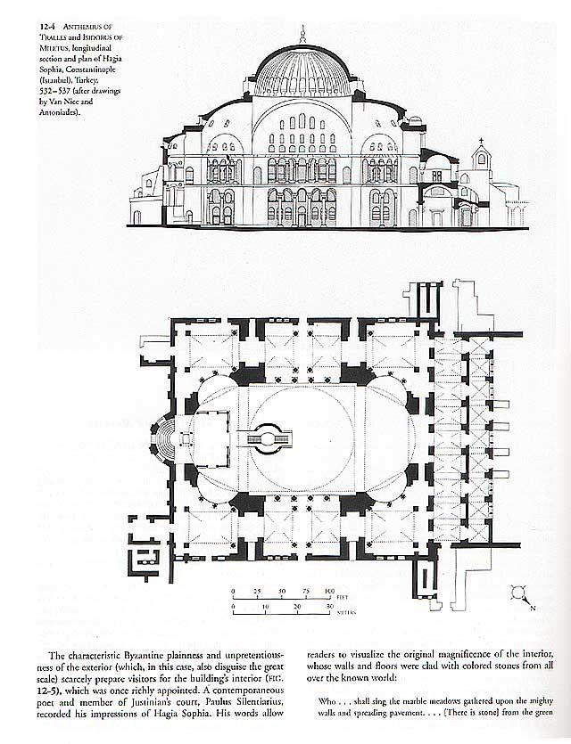 Hagia Sophia Hagia Sophia Architecture Presentation Board Architecture Drawing