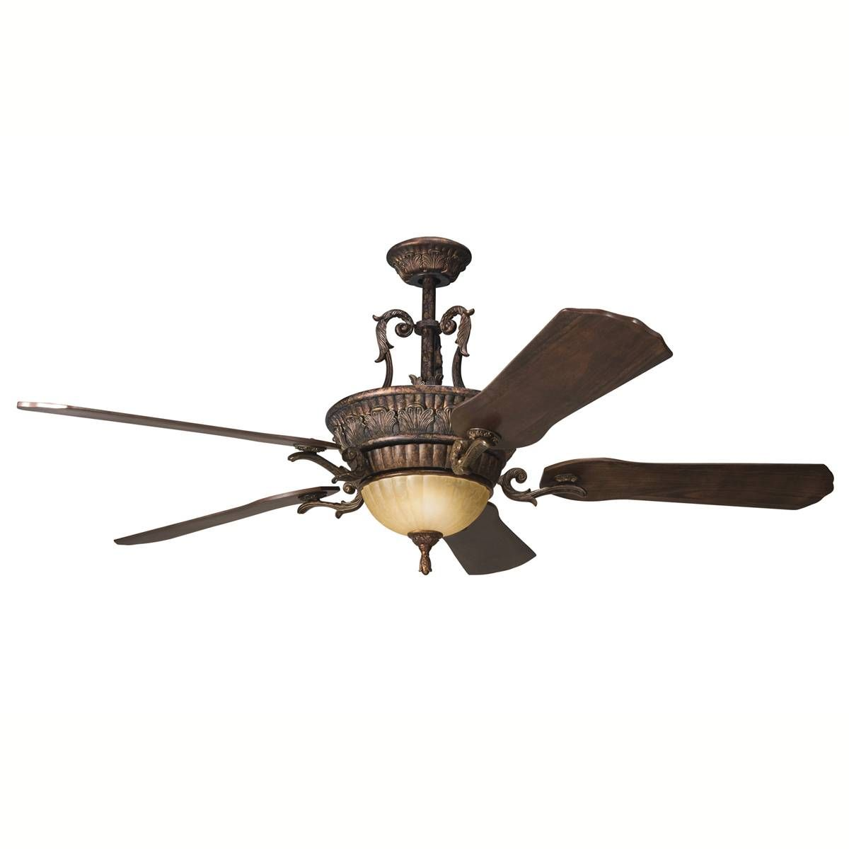Kichler 60 Wind Speed 3 58 Mph 314 64 Lfm Ceiling Fan With Light