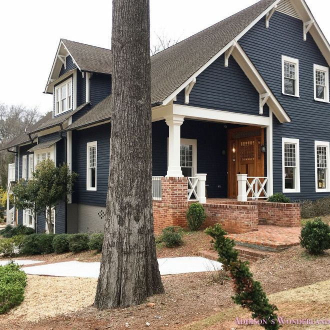 Exterior Paint Color: 1/2 Soot By Benjamin Moore And 1/2 Witching Hour By Benjamin  Moore; Trim: Dove Wing By Benjamin Moore.