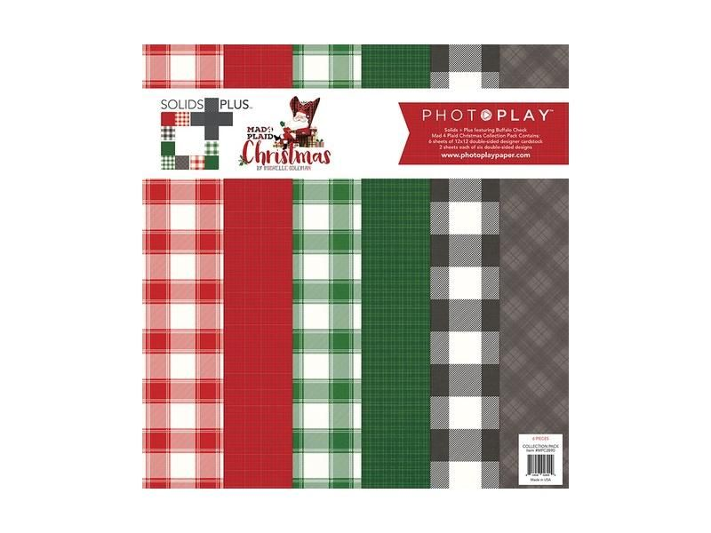 Photo Play Mad Plaid Christmas Collection Solids Plus