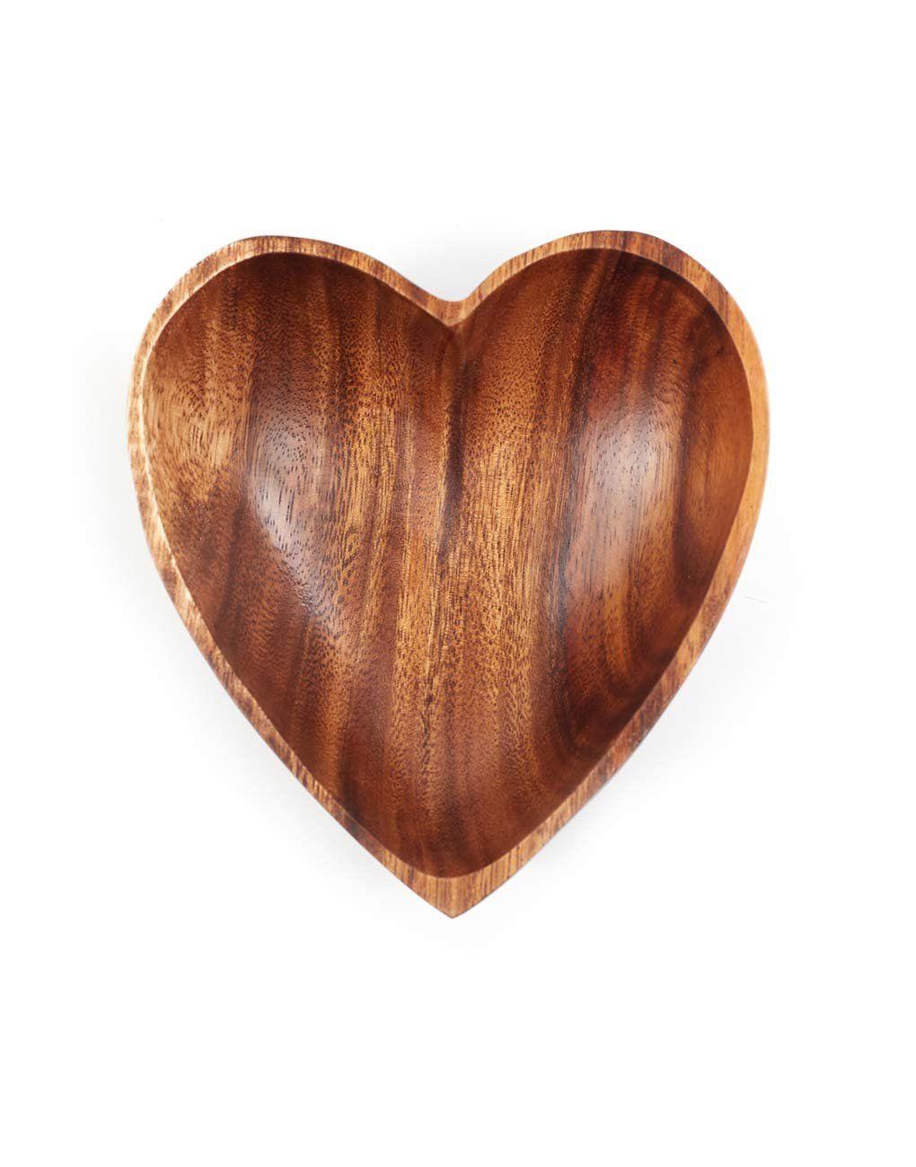 Acacia Wood Heart Bowl Wood Hearts Acacia Wood Bowl Hand Carved