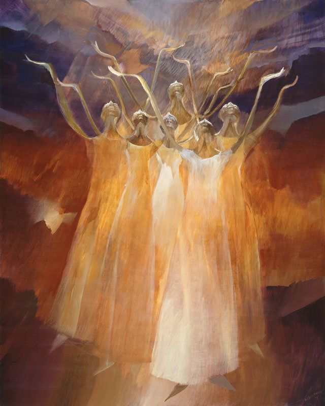 Ballet Painting   Hear My Plea  is part of Prophetic art, Symbolic art, Spiritual art, Ballet painting, Dance paintings, Church art -  Hear My Plea   Dance Painting inspired by Alvin Ailey's ballet  Revelations , by an awardwinning artist Rochelle Blumenfeld  Giclee on canvas, available in 3 sizes