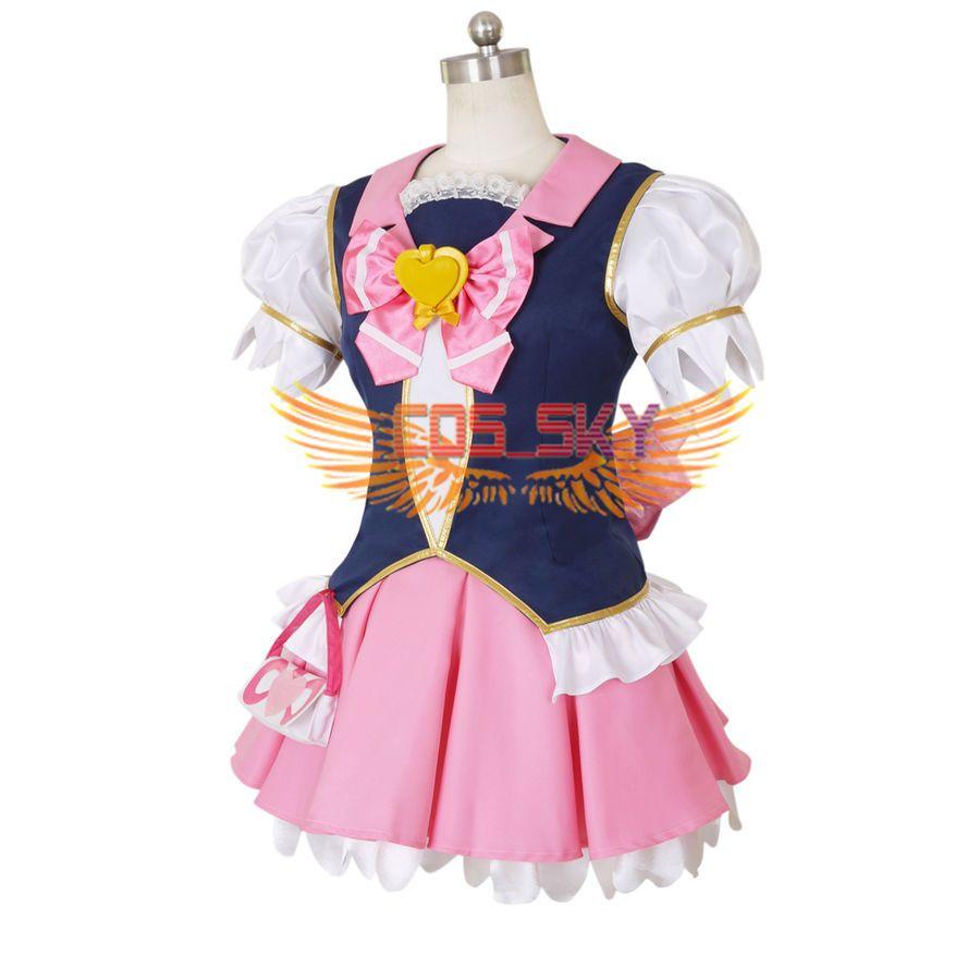 Happinesscharge Precure Megumi Aino Dress Cosplay Anime Costume Custom Made Megumi Aino Happinesscharge Anime Costumes Cosplay Anime Cosplay