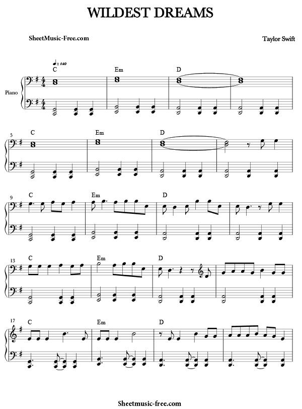 Download Wildest Dreams Sheet Music Pdf Taylor Swift Sheet Music Sheet Music Pdf Piano Sheet Music Free