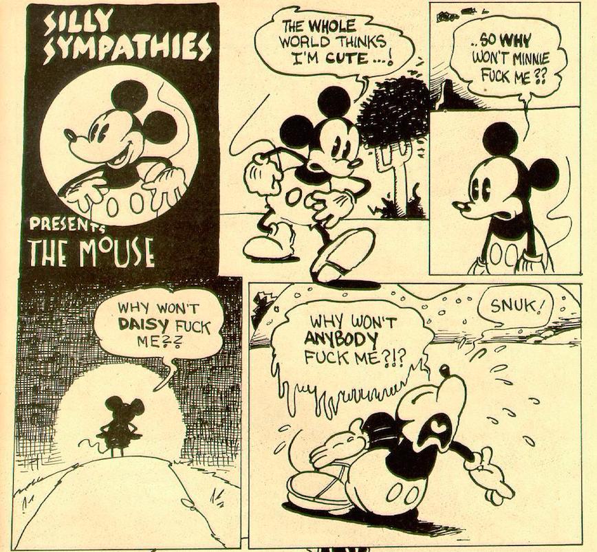 Mickey Maus Porno Comics Schockiert von großem Schwanz