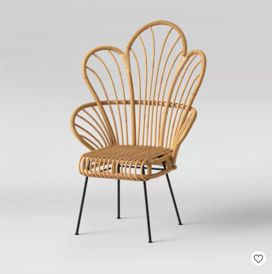 Avocet Rattan Fan Back Accent Chair Opalhouse™ in 2020