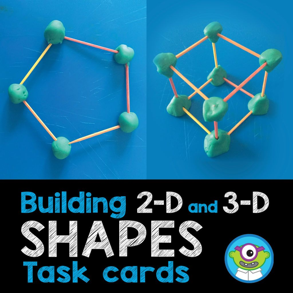 Practice 2 D And 3 D Shapes With Play Dough And Toothpicks