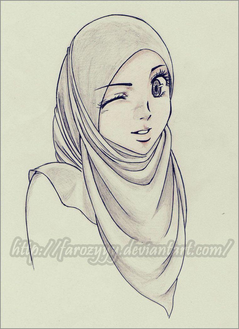 Clin doeil by farozyyy hijab cartoon muslim girls muslim women muslimah
